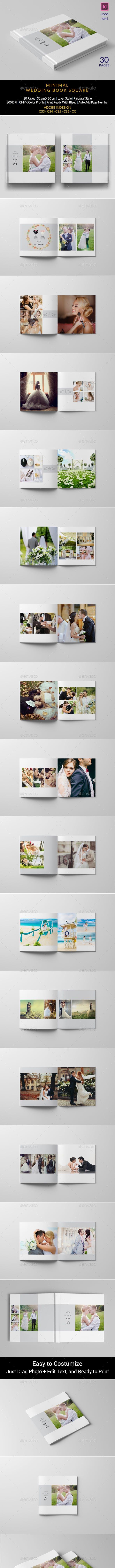 Minimalist Square Wedding Album