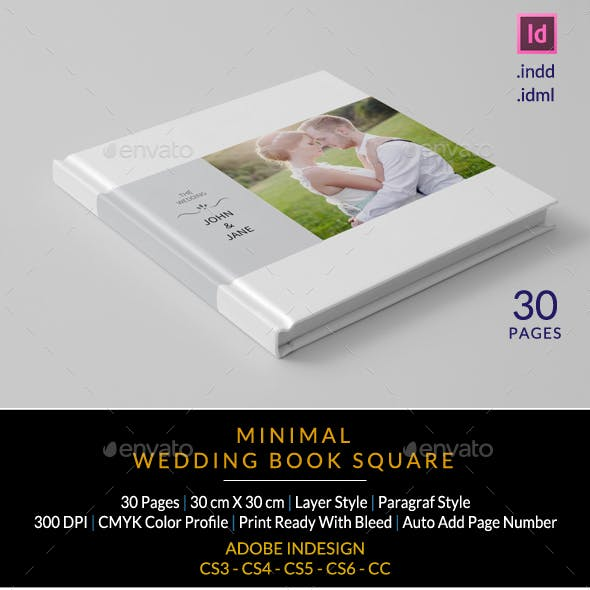 Minimalist Square Wedding Album
