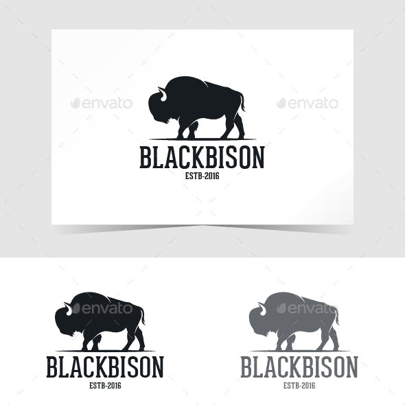 Black Bison Logo Template