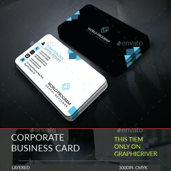 Corporate Business Card Template.253