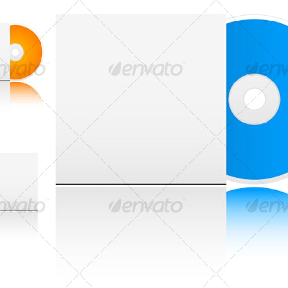 Compact disk with empty box
