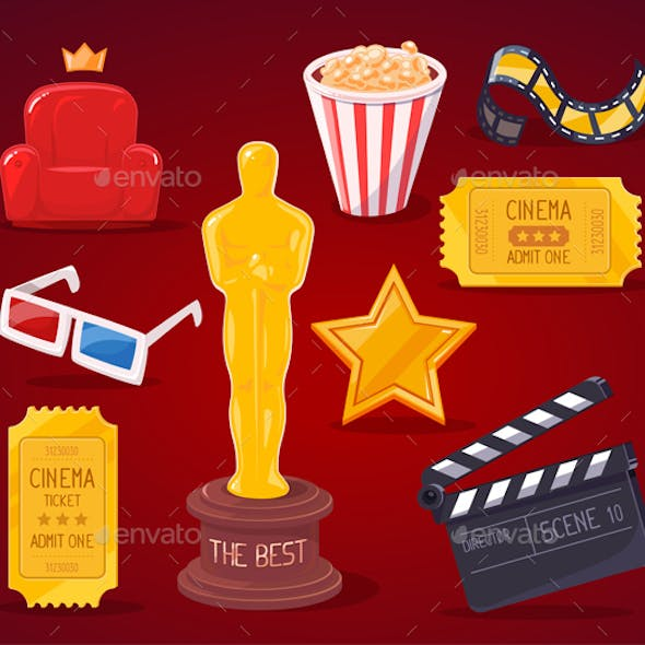 Collection of Cinema Industry Objects