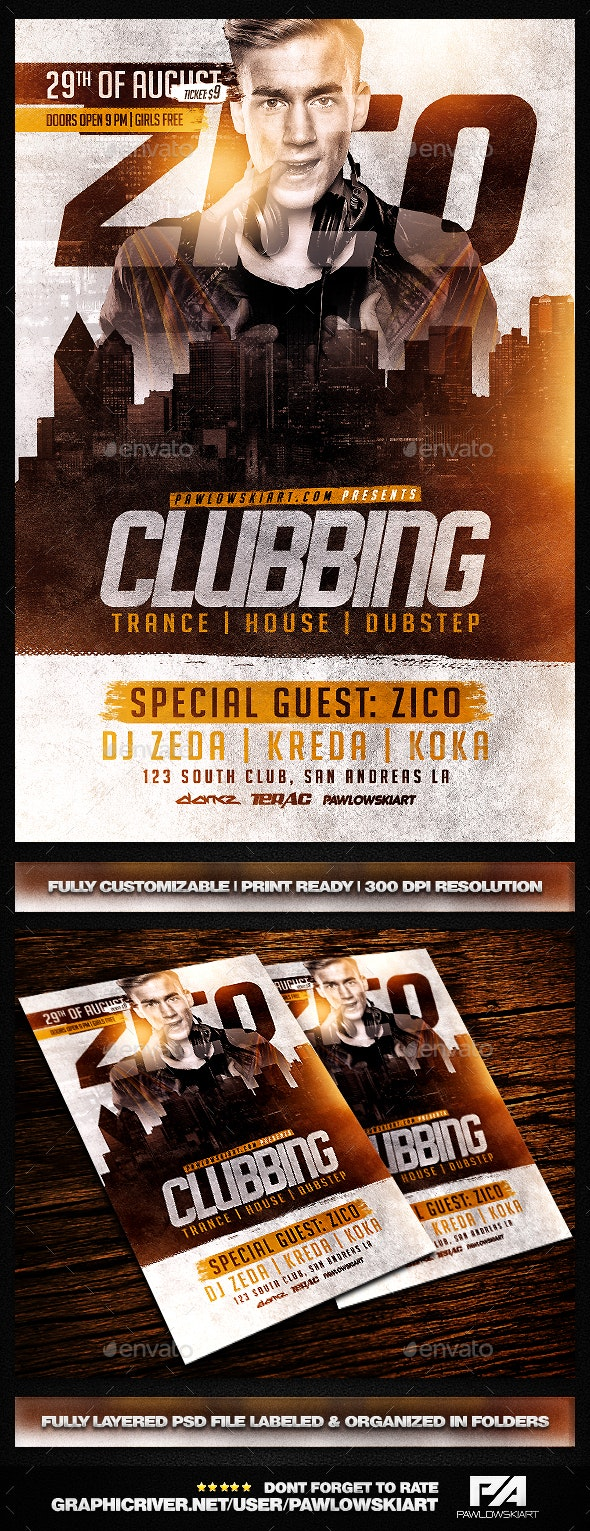Clubbing Flyer Template - Clubs & Parties Events
