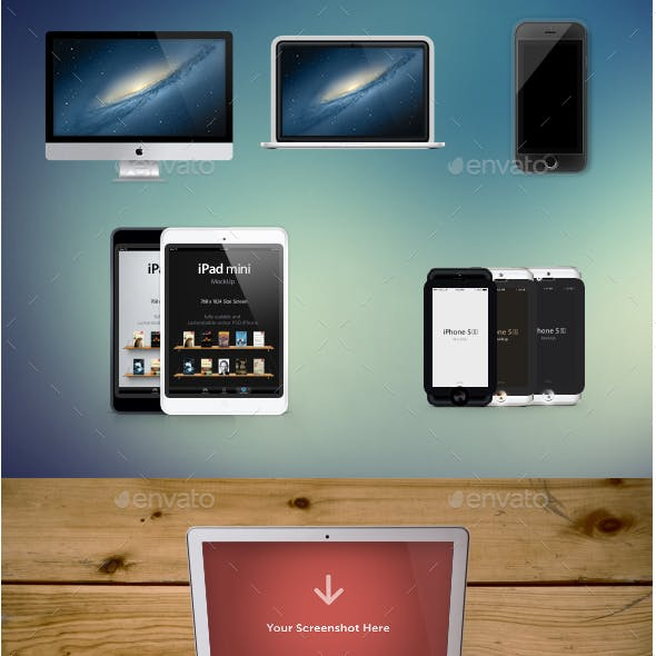Responsive Apple Devices Mockup Pack
