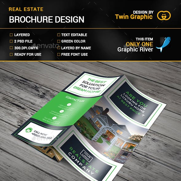 REAL STATE TRI-FOLD BROUCHURE.