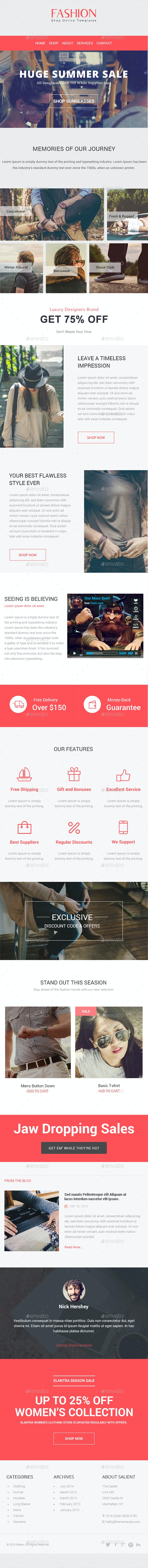 Fashion - E-Newsletter PSD Template - E-newsletters Web Elements