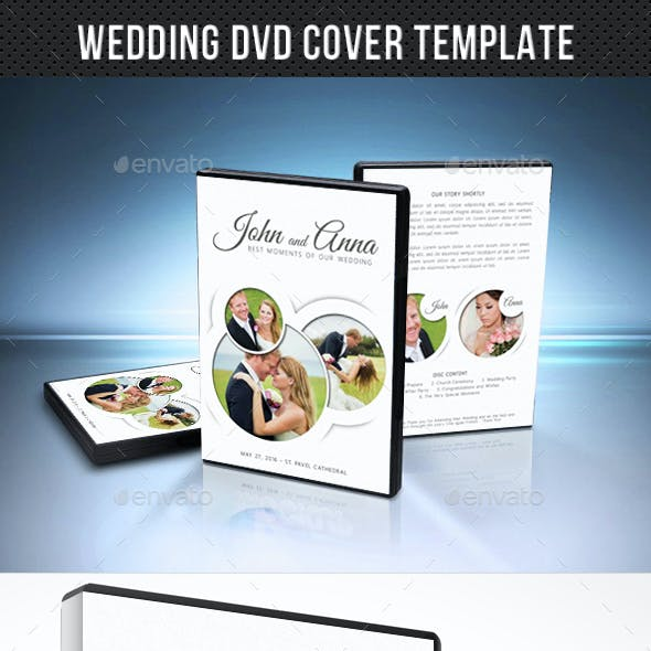 Wedding DVD Cover Template 15