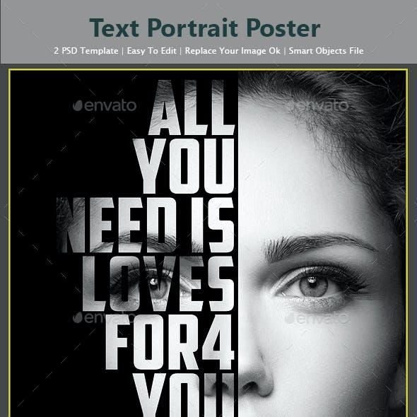 Text Portrait Poster