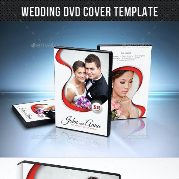 Wedding DVD Cover Template 16