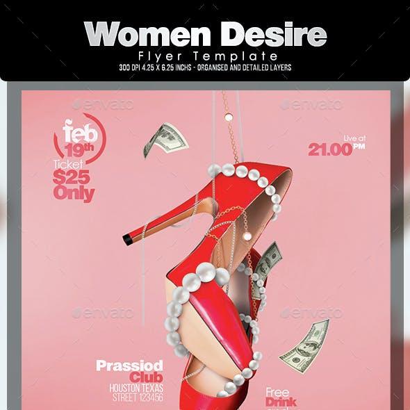 Women Desire Flyer Template