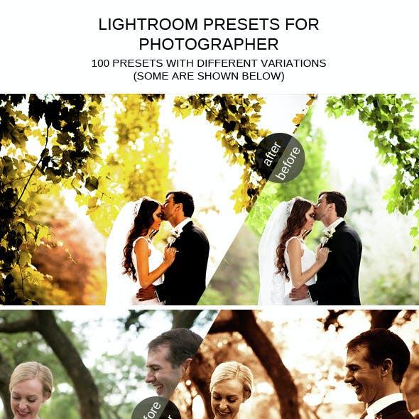 100 Professional Lightroom Presets