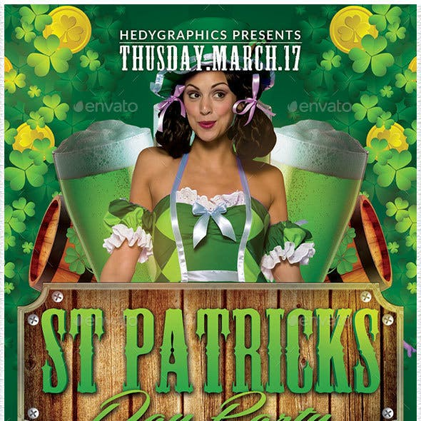 St Patrick Day Party - Flyer Template