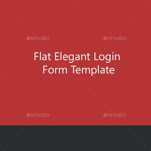 Flat Elegant Login Form Template