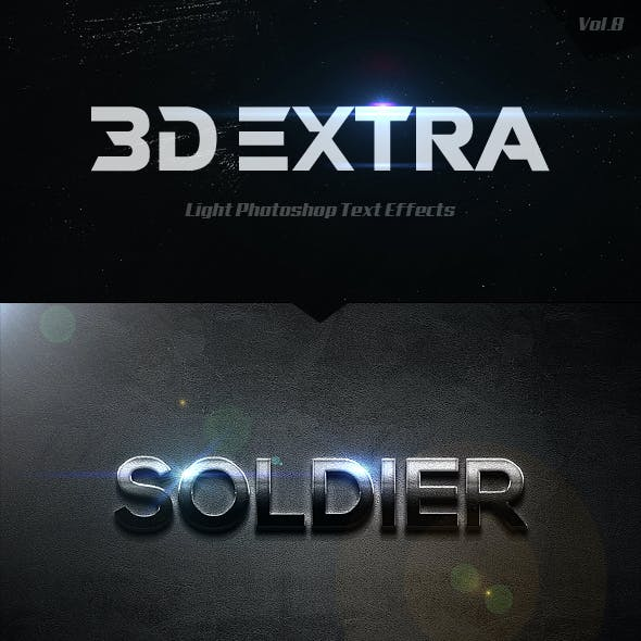 3D Extra Light Text Effects Vol.8