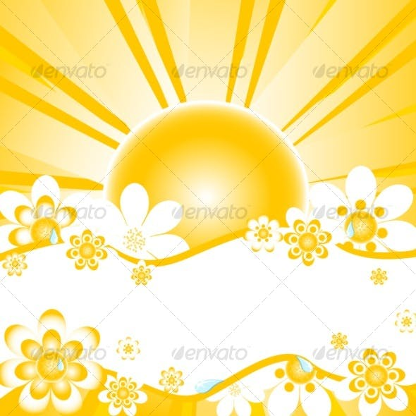 vector illustration of summer background