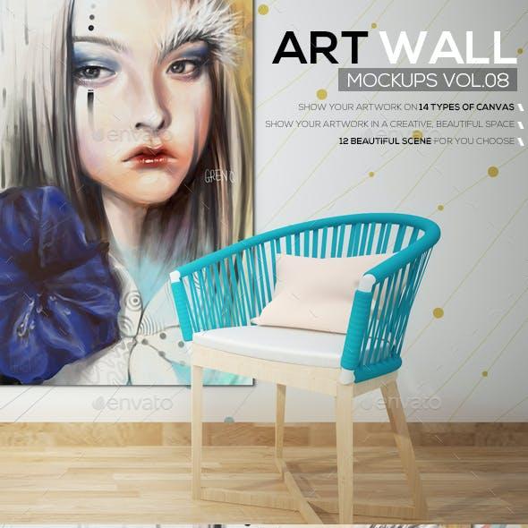 Art Wall Mockups Vol8