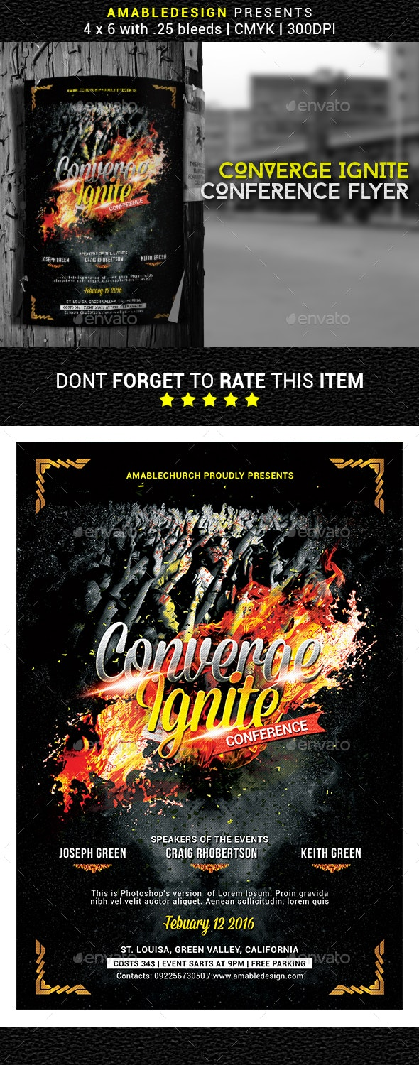 Converge Ignite Church Conference Flyer - Church Flyers