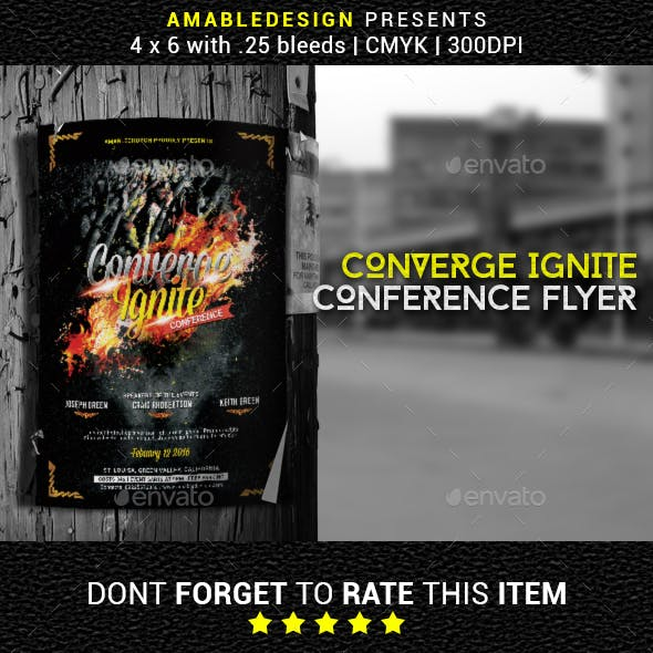 Converge Ignite Church Conference Flyer