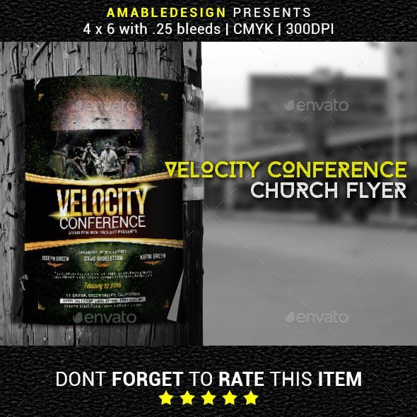 Velocity Conference Church Flyer