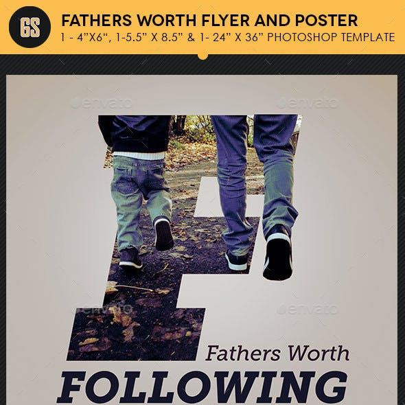Fathers Worth Flyer Poster Template