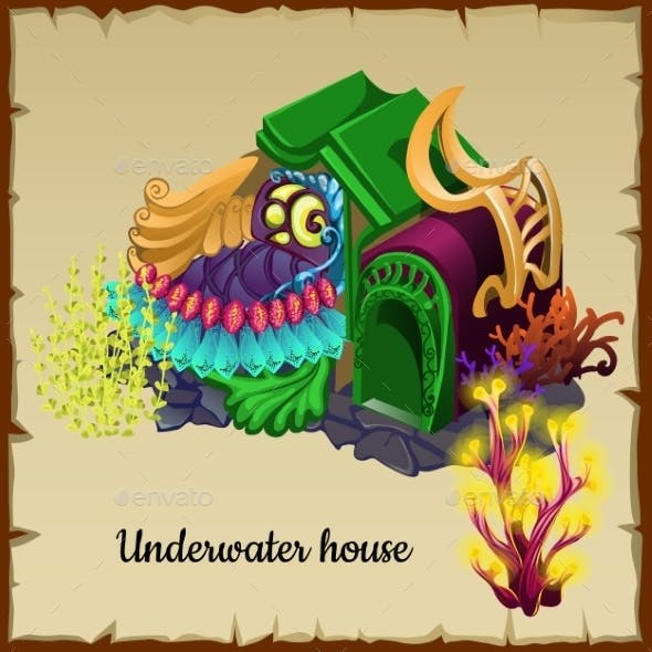 Magical Underwater House a Resident Of The Sea