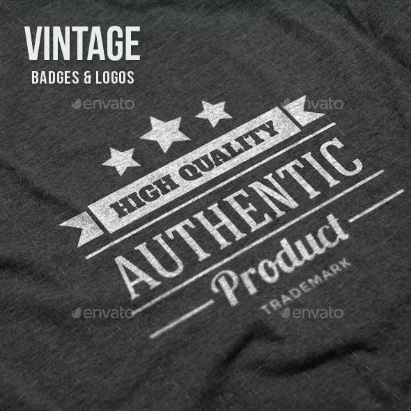 24 Vintage Badges