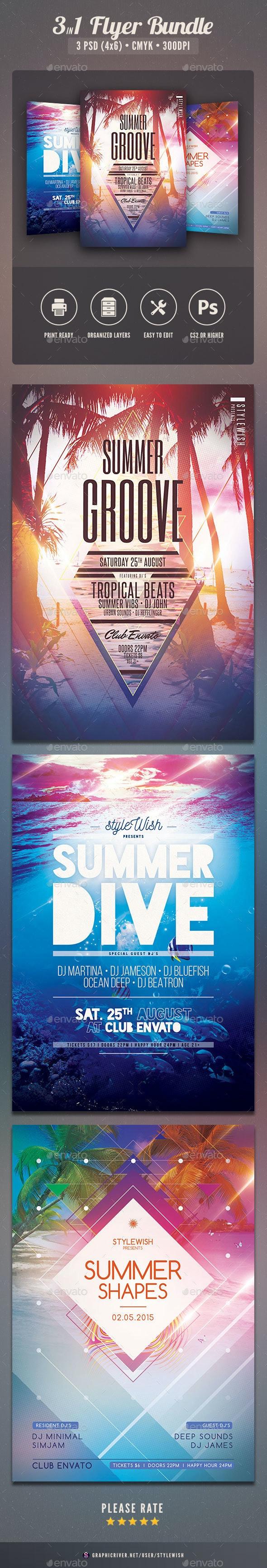 Summer Flyer Bundle Vol.09 - Clubs & Parties Events