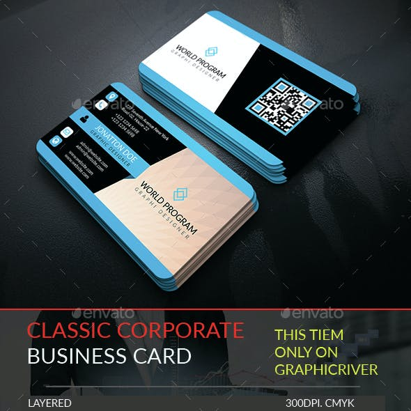 Classic Corporate Business Card Template.255
