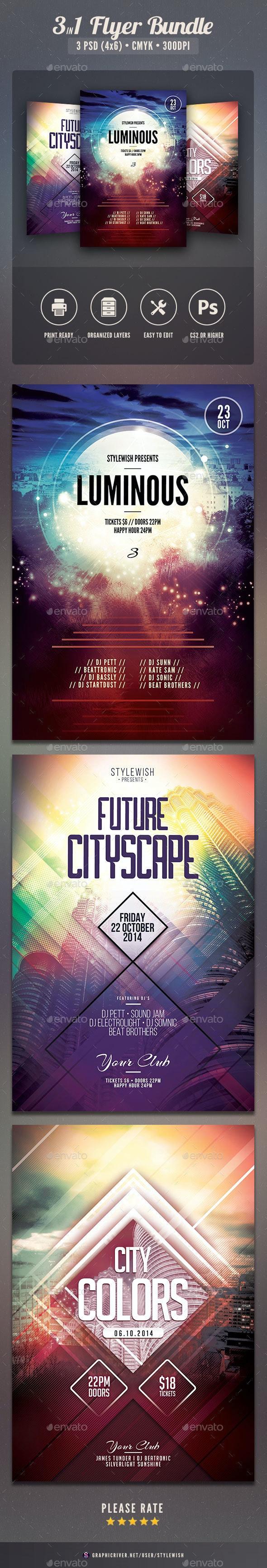 City Flyer Bundle Vol.10 - Clubs & Parties Events