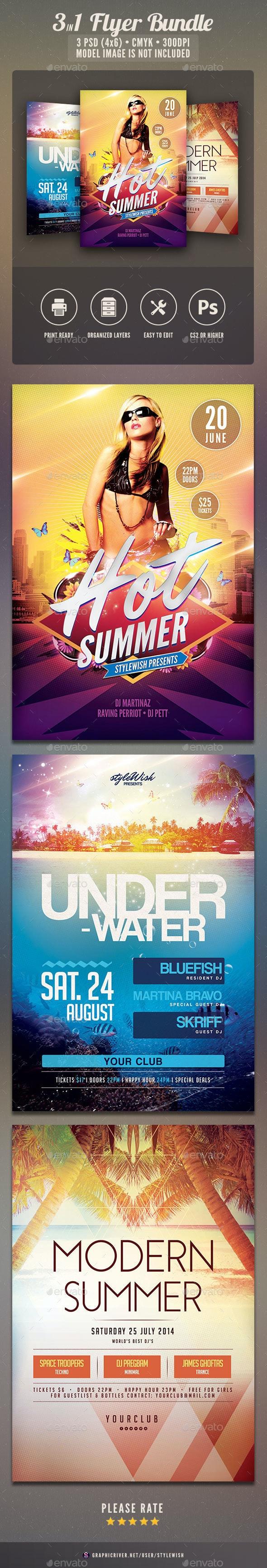 Summer Flyer Bundle Vol.07 - Clubs & Parties Events