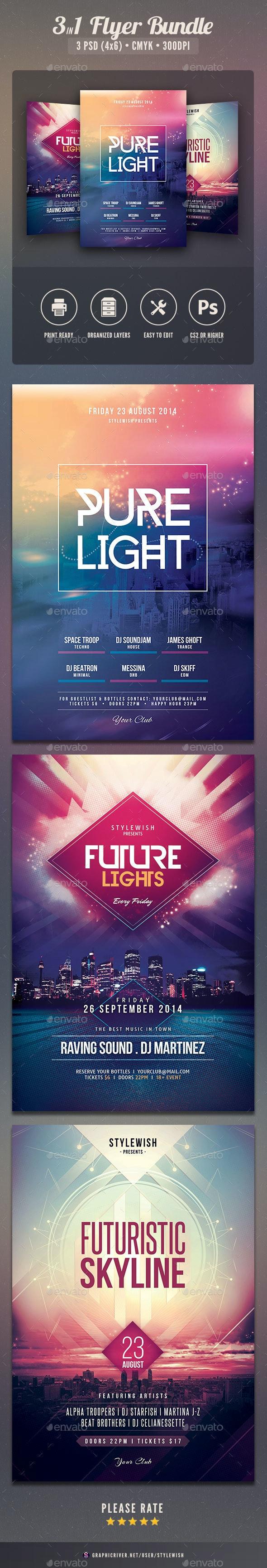 City Flyer Bundle Vol.07 - Clubs & Parties Events