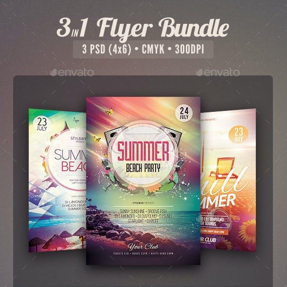 Summer Beach Flyer Bundle Vol.01