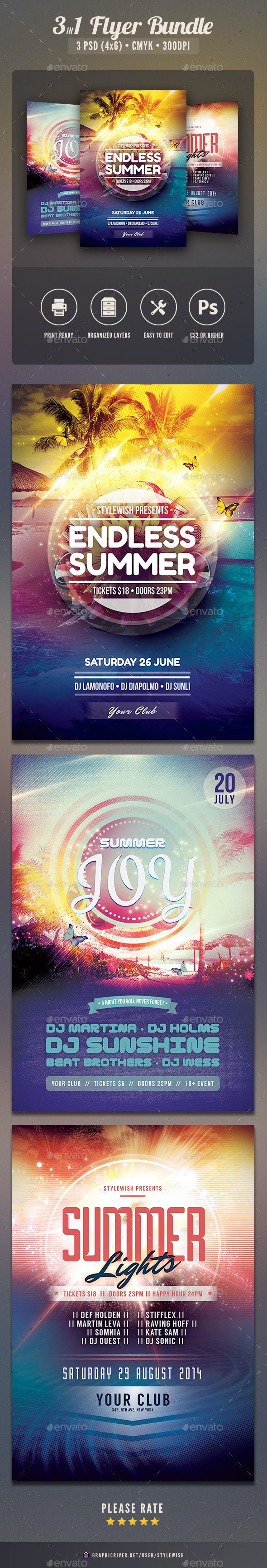 Summer Flyer Bundle Vol.06 - Clubs & Parties Events