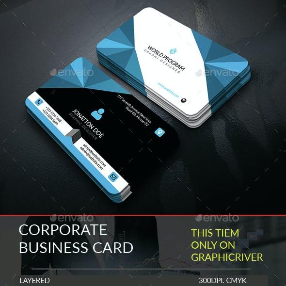 Corporate Business Card Template.242