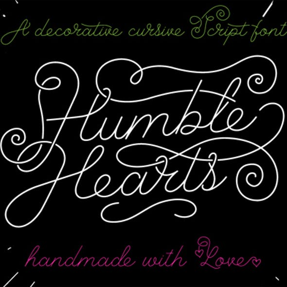 Humble Hearts Script Font