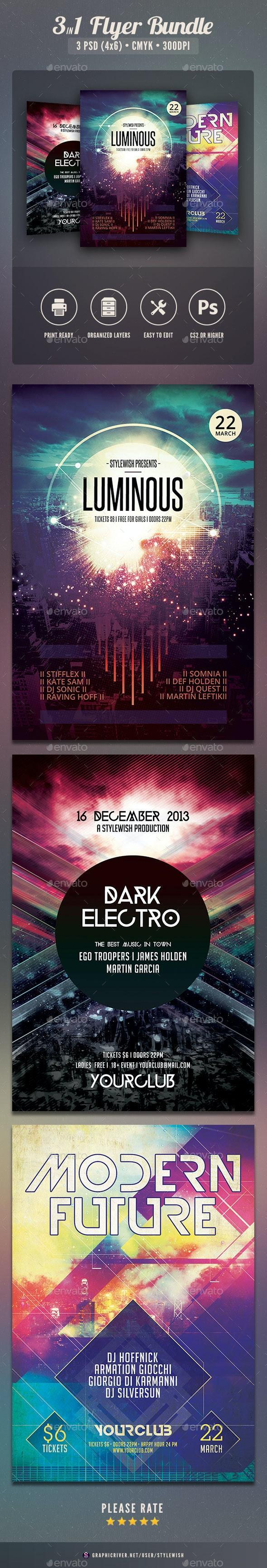 Party Flyer Bundle Vol.16 - Clubs & Parties Events