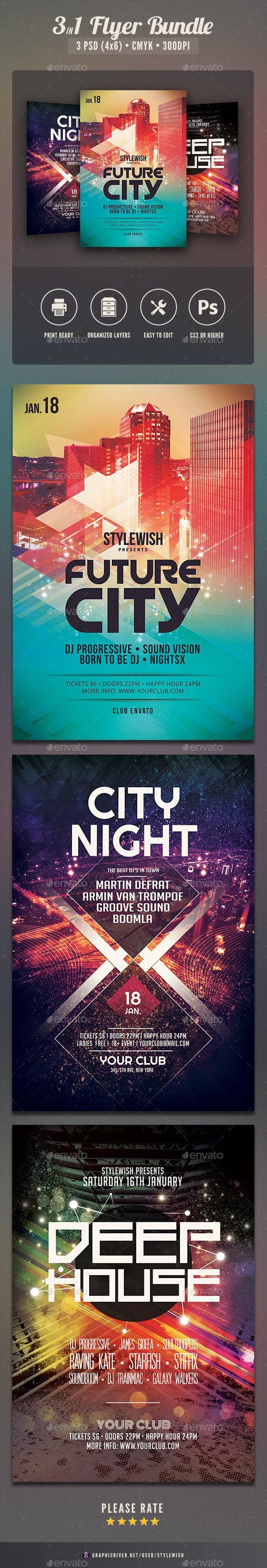 Party Flyer Bundle Vol12 - Clubs & Parties Events