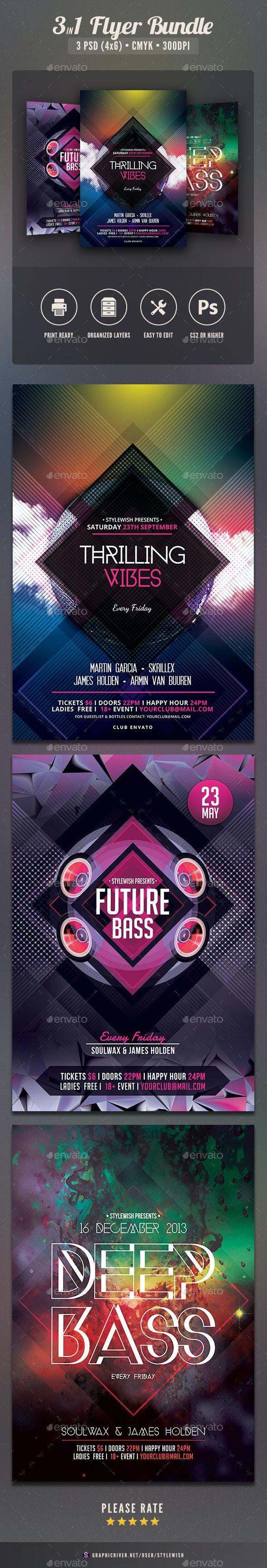 Future Party Flyer Bundle Vol2 - Clubs & Parties Events