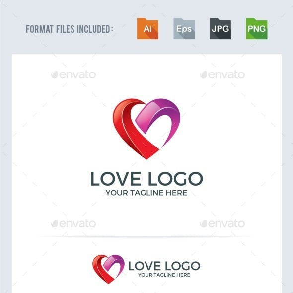 Love / Heart Logo Template