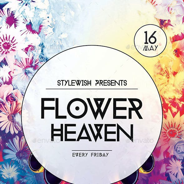 Flower Heaven Flyer