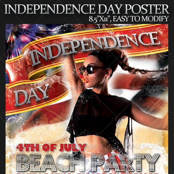 """4th of July Poster - 8.5""""x11"""""""