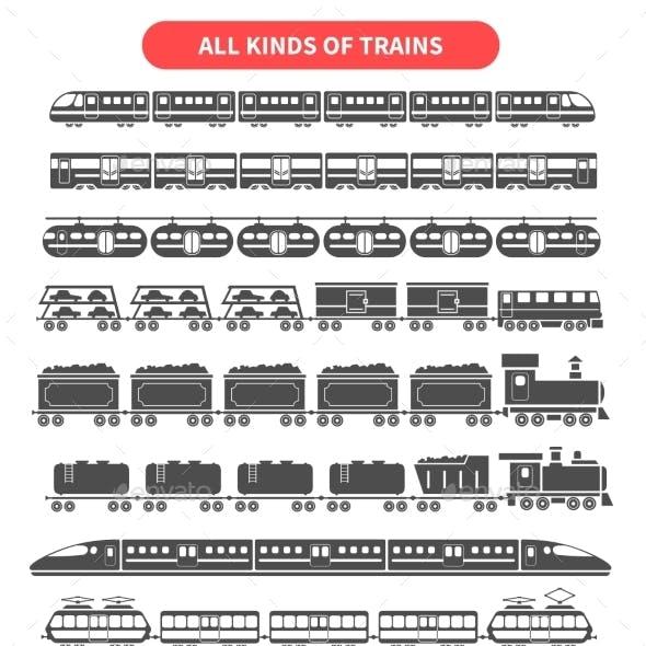 Train Black Set