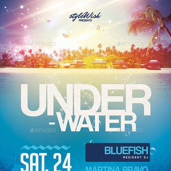 Underwater Party Flyer