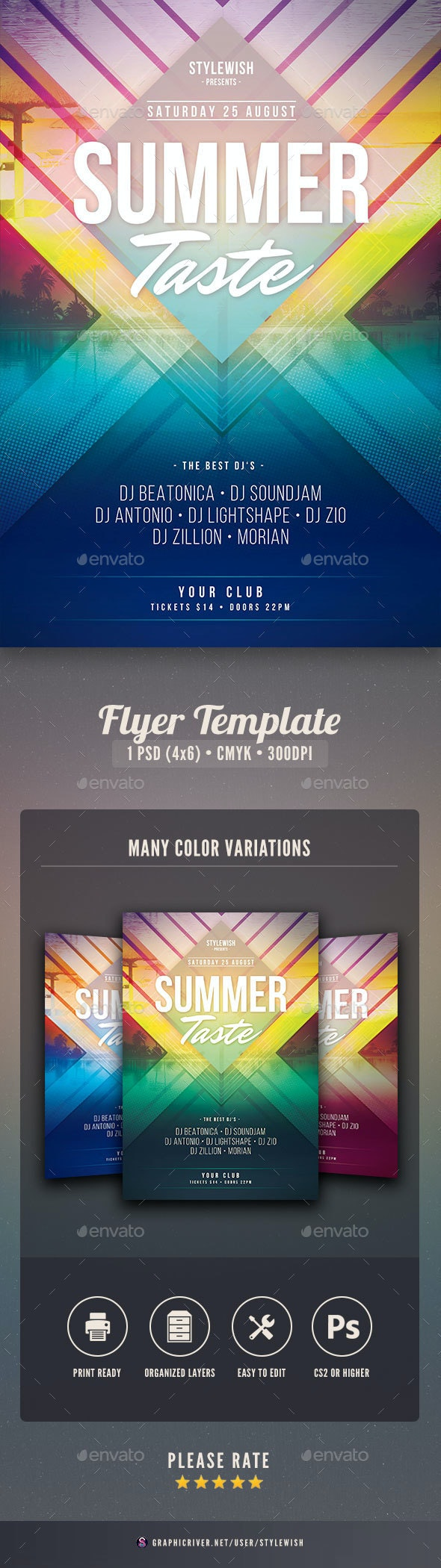 Summer Taste Flyer - Clubs & Parties Events