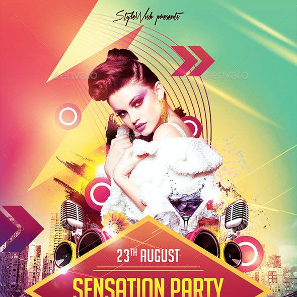 Sensation Party Flyer
