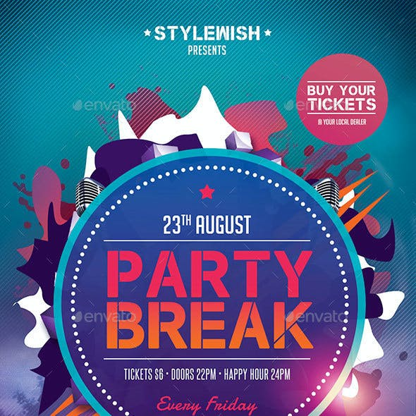 Party Break Flyer