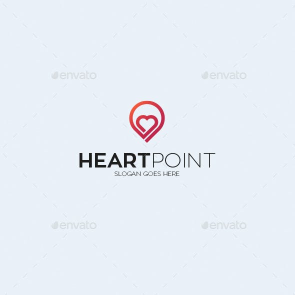 Heart Point Logo Template