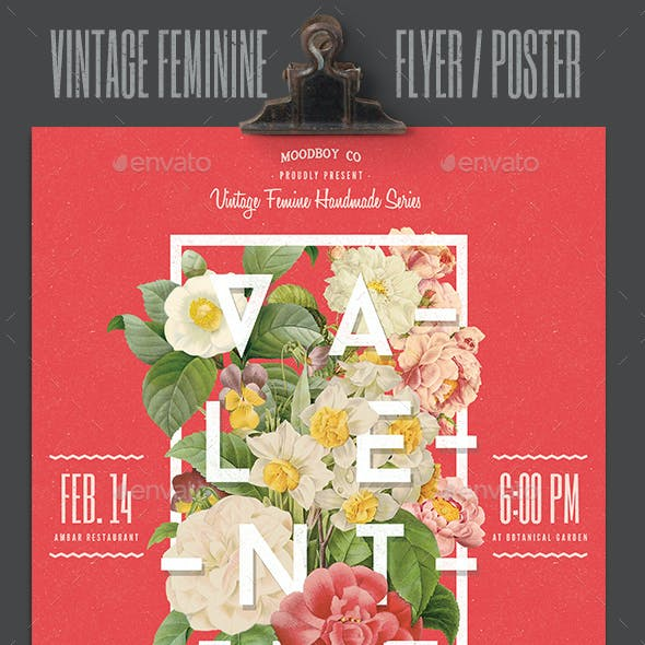 Vintage Feminine Flyer/Poster