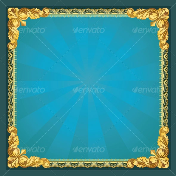 Old-fashioned Golden Border - Borders Decorative