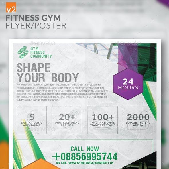 Fitness Gym Flyer/Poster v2